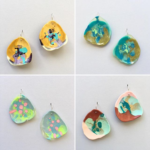 new batch of handmade 'big puddle' resin earrings now online in a fab mix of colours 💋 mini puddles coming soon 💋 get some colourful bling for your lobes 💋 made in Melbourne Australia by the gorgeous gals at Flock Curiosity Assembly. . . . . #fallingforflorin #hotblingmama @staceyflocker @sahofflock #flockcuriosityassembly #keywest  #madeinaustralia🇦🇺 #islandlife #resinbling #resinjewelry #resinjewellery #madeinmelbourne