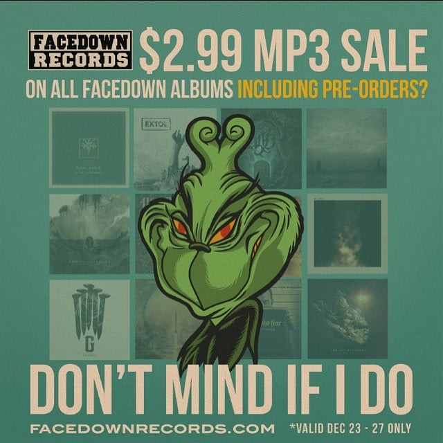 Whoa. @facedownrecords is doing a digital music sale for 2.99 for every facedown release. That includes our #backdraft release from 2013. If u haven't heard our label debut now's the time to pick it up!