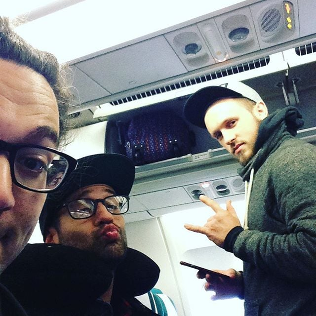 On our way to Germany! #futuregoldenage #christmasrocknight