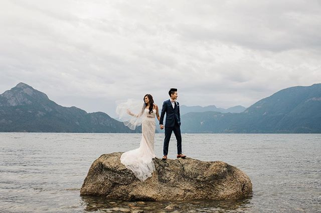 We had to carry her to and from this rock as the tide was coming in but it was so worth it! Jessika was such a trooper and I'm so glad these guys were adventurous enough to go with my wild ideas. #wedding #weddingdress #weddingphoto #weddingphotography #liveauthentic #loveauthentic #exploretocreate #explorebc #beautifulbc #landscapelovers #epic #epicshot #junebugweddings #makeportraits #lookslikefilm #portrait #vancouverisawesome #bride #weddinginspiration #greenweddingshoes #theknot #vancouverisland #niagara #toronto #torontoweddingphotographer #niagaraphotographer #hamiltonon #canadiancreatives #adventuretime