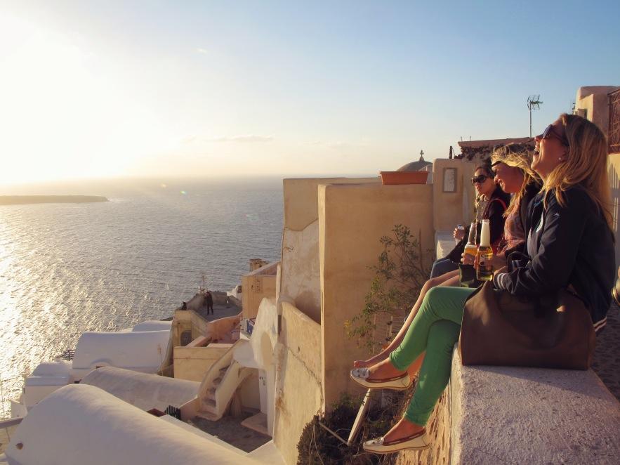 Santorini_girls laughing_sunset.jpg