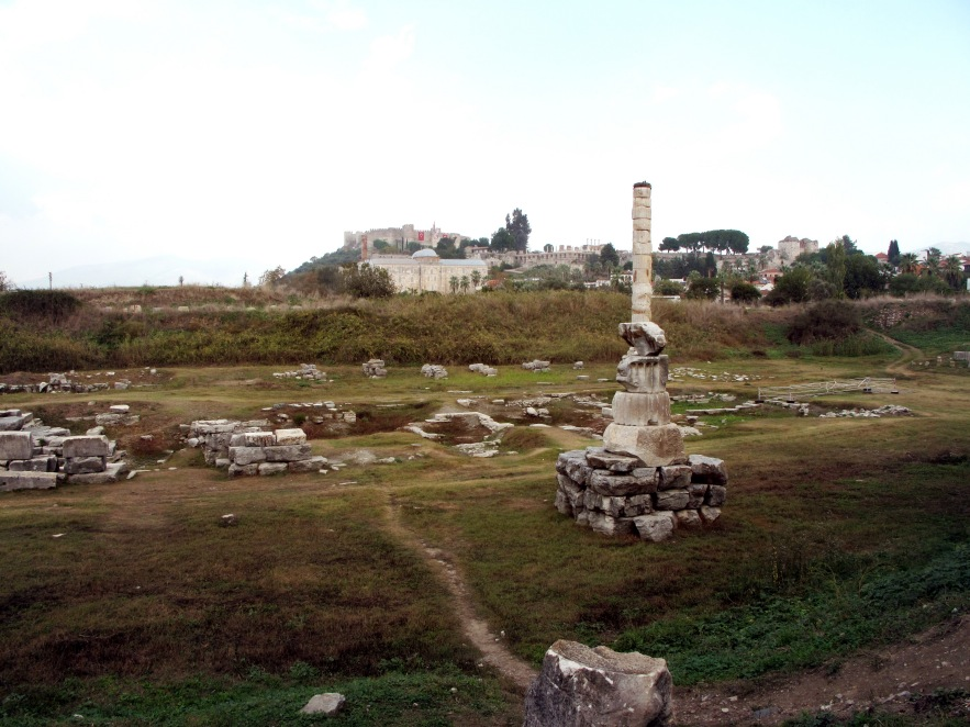 The remains of the temple of artemis (one of the seven wonders of the ancient world)