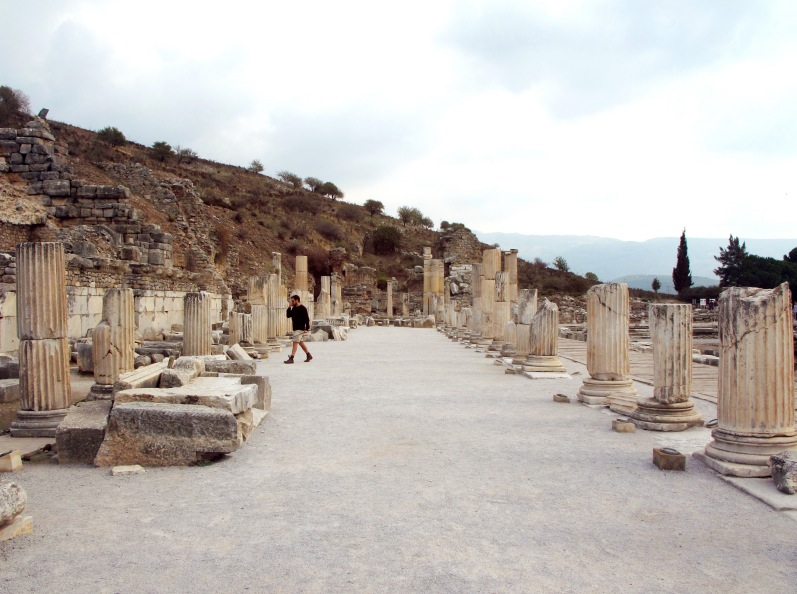 This isthe ancient cityand  archeological site of Ephesus.We couldn't believe the sitehas only been 10% unearthed. You really get a sense of what it was like 2000 years ago during the glory days of Greece and Rome.