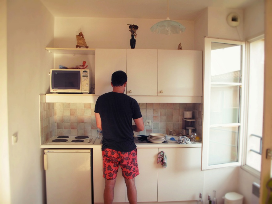Sweet Husband doing all the washing up