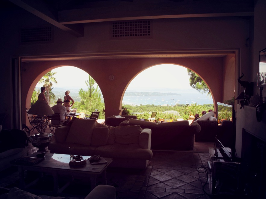 Visiting our friend Perske at his incredible beach house in St Tropez