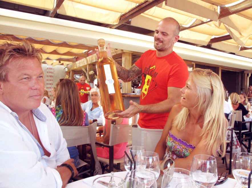 Someone thought it would be a good idea to order a giant bottle of rose