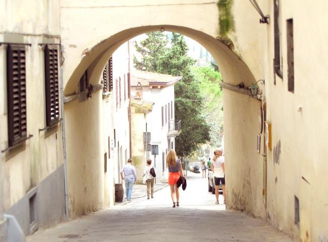 beautiful little streets of panzano