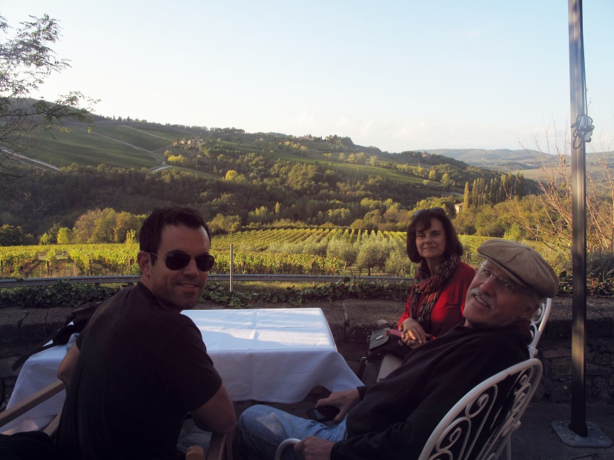 My wonderful parents-in-law come to visit us in Italy so we take them to one of our favourite restaurants in Chianti