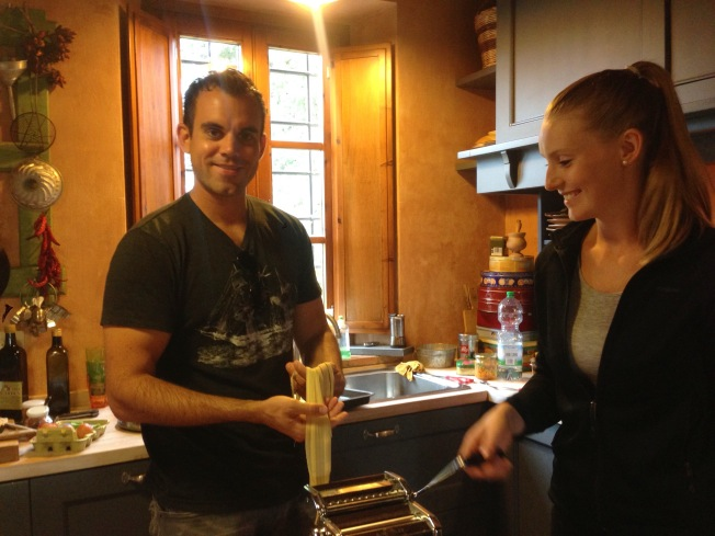 Tuscany_cooking lesson_Reu and im_pasta making_1.JPG