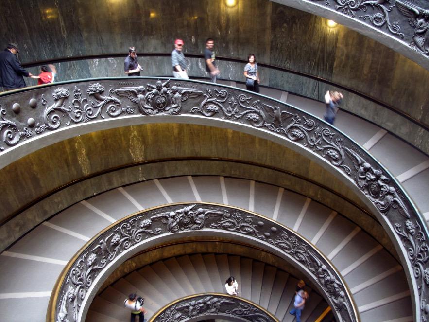 Rome_vatican museum_stair case.JPG