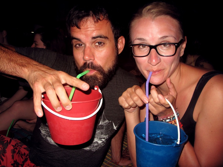 The night includes Free bucket size cocktails!
