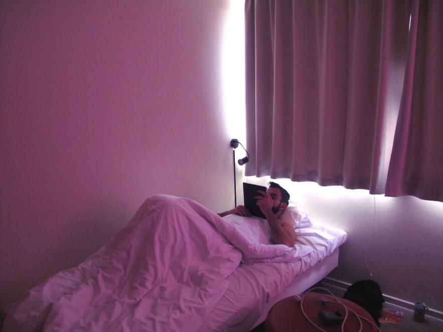 Our nightclub pink hostel room
