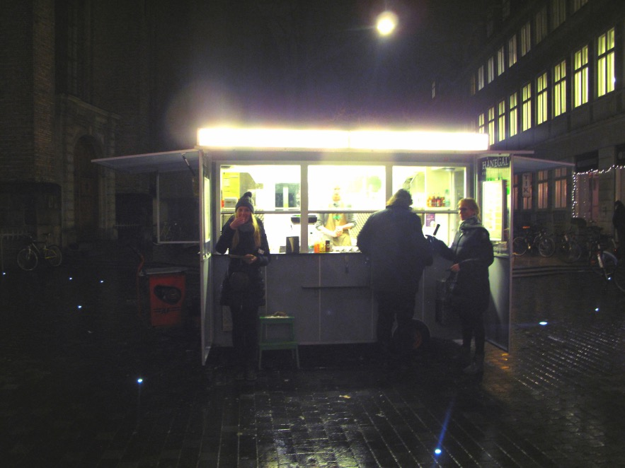 """There is nothing more Danish, other than a Danish open sandwich """"smørrebrød"""", than a hot dog stand.One of the best ones is DØP (The organic hot dog stand) which is located by The Round Tower on Købmagergade pedestrian street and by The Church of The Holy Ghost on Strøget pedestrian street. We went to the one near the round tower on a cold winter's night and it was the most satisfying feast.The sausages are made of organic meat and you can get a platter with delicious roasted beetroot &spinach mash."""