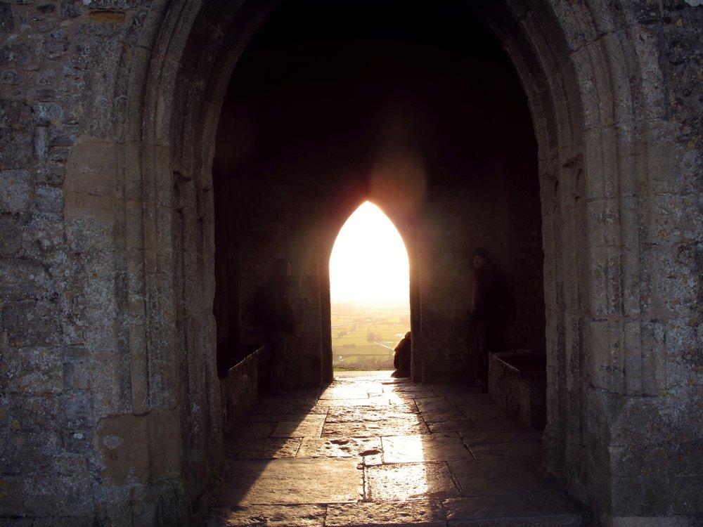 Glastonbury_Sun shining_door way.jpg