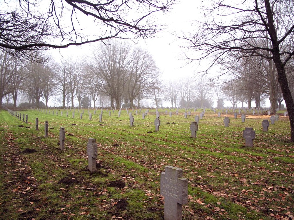 German solider cemetery. You can notice the difference easily between the german and American graveyards.