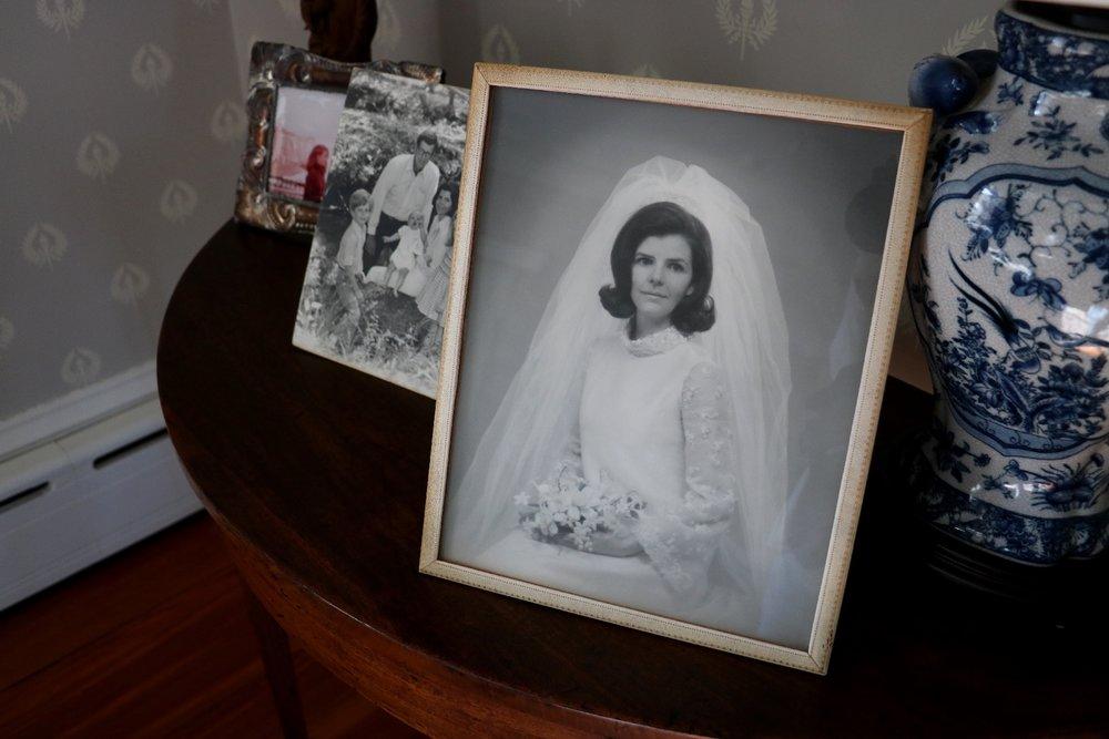 Alex's gorgeous mother, Adrianne, on her wedding day.