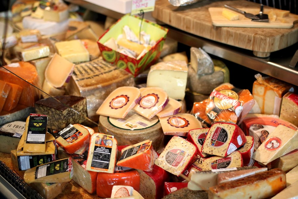 Went a bit overboard on the cheeses while we were there. They were just so good!