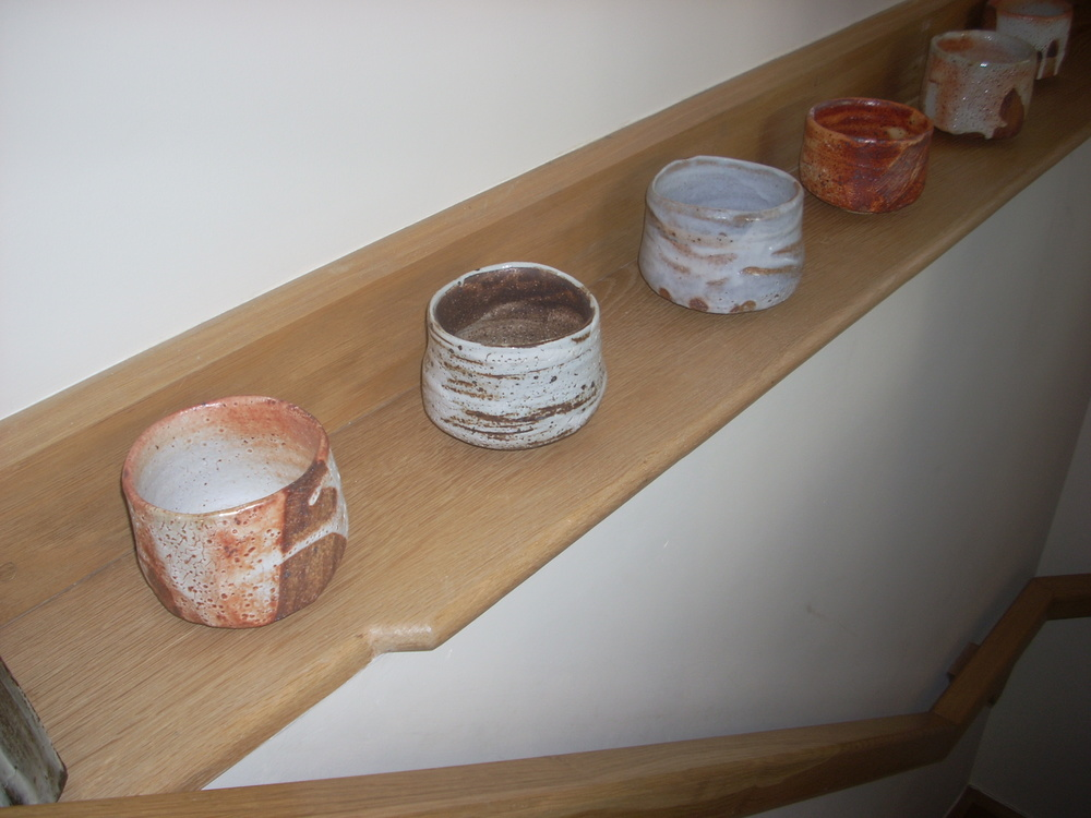 Tea bowls by Lisa Hammond at Kigbeare