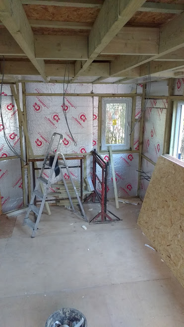 Loads of insulation goes into every surface