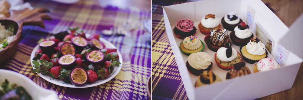 fresh fruit / most delicious vegan cupcakes from vivian and bridget <3