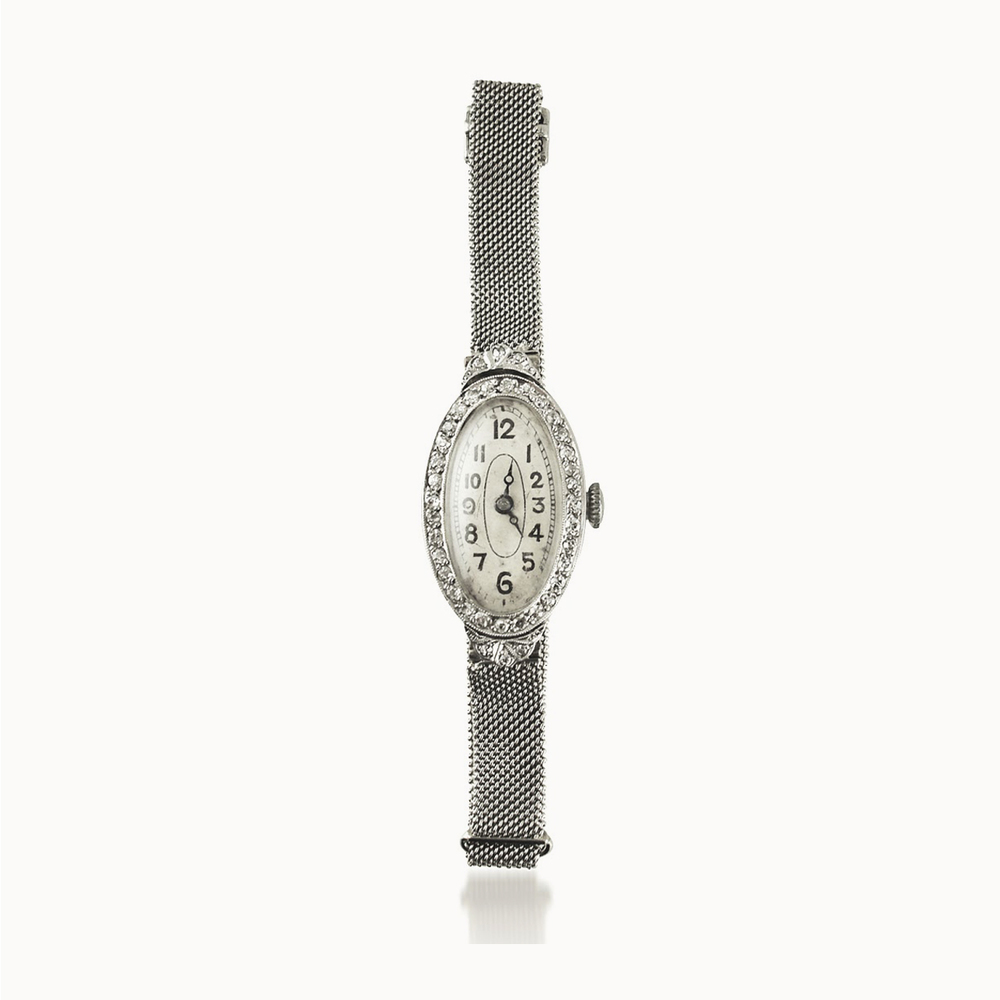 LADY'S EDWARDIAN DIAMOND-SET COCKTAIL WATCH