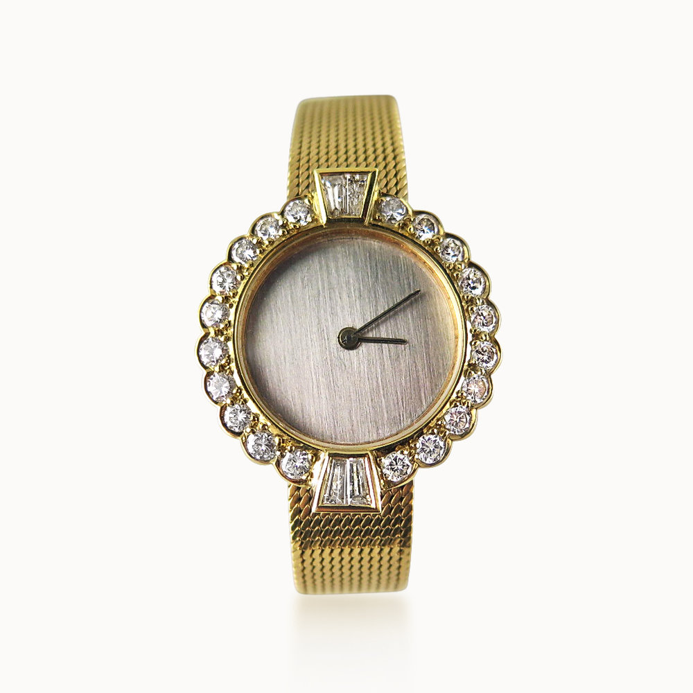18CT GOLD AND DIAMOND WRISTWATCH