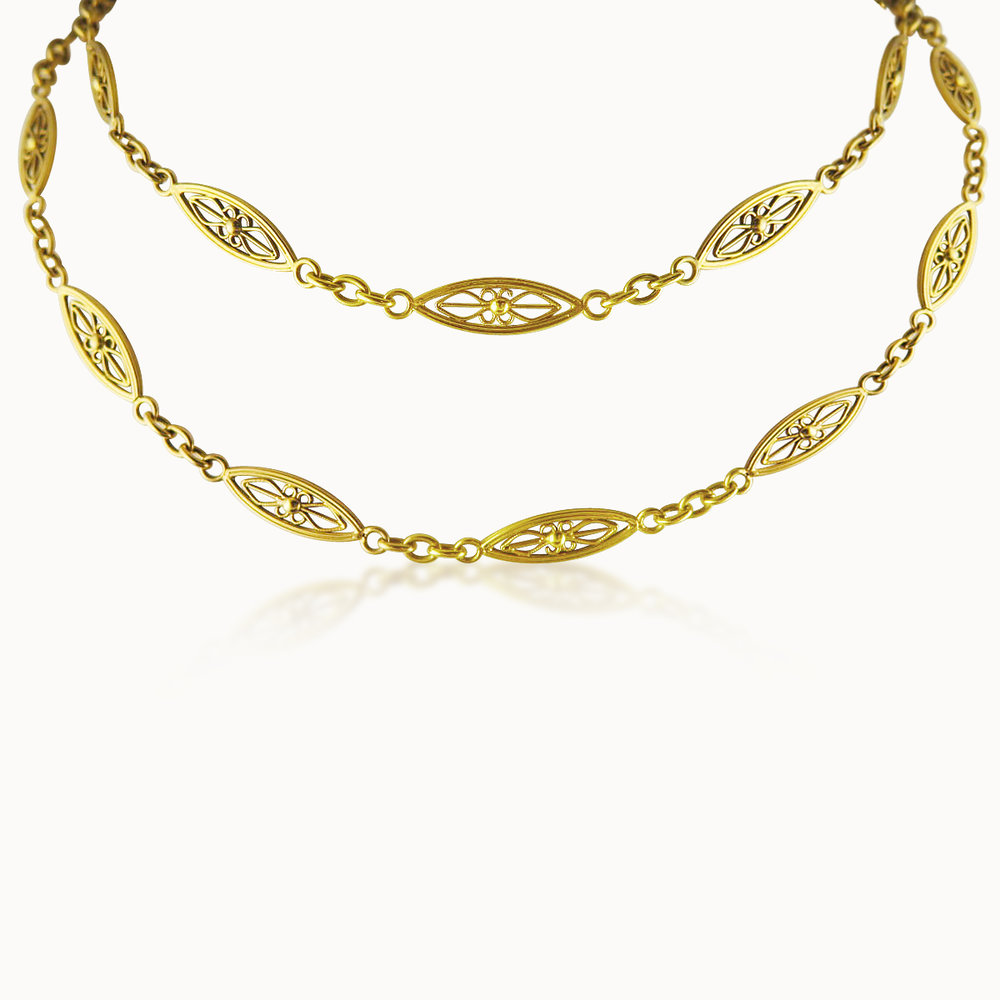 18CT YELLOW GOLD LONGCHAIN