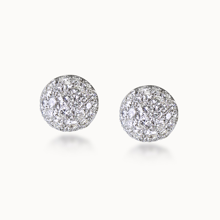 DIAMOND BOULE EARRINGS