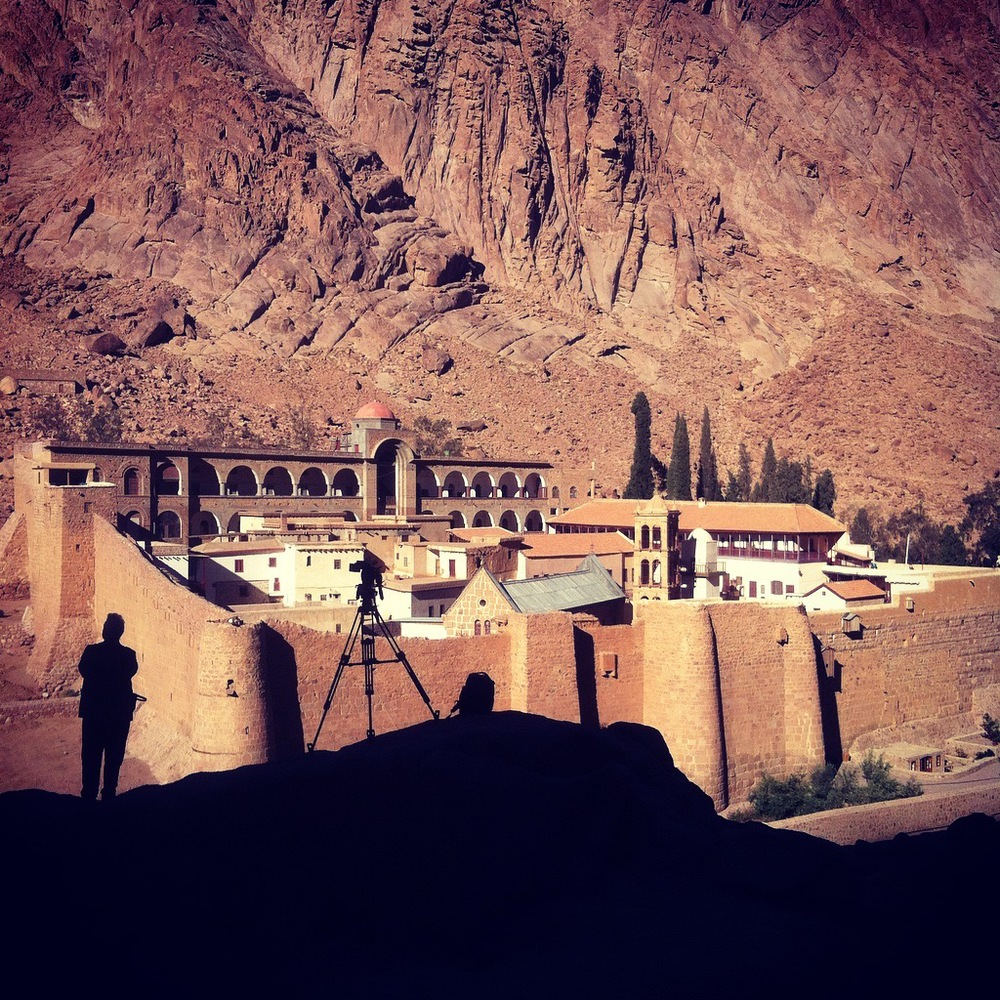 St Catherine's Monastery in the morning light.