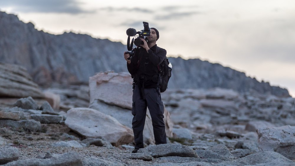 Filming at dawn on Mount Langley.jpg