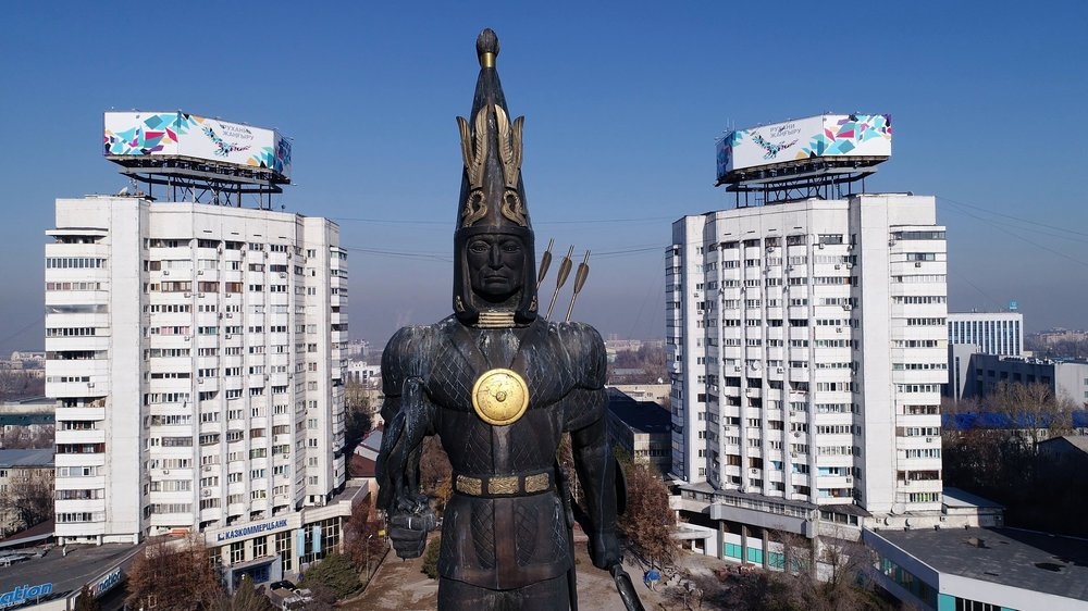 National Monument of The Golden Warrior in Independence Square, Almaty