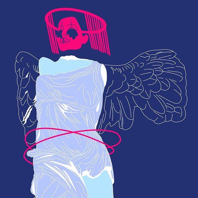 » nike of samothrace « I really enjoyed it to recreate such an old masterpiece new. . . . . . #art #illustration #procreate #pink #abstract #artsy #gayartist #colorful #pop #colours #sketch #abstractart #popart #nouverealisme #portrait #avantgarde #gradient #adonit #contemporary #austrianblogger #grazerblogger #Illustrator #newart #ipad #fineart #gayart #masterpiece