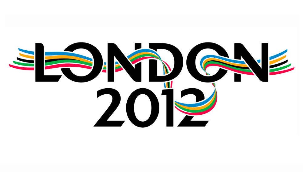 Olympic Bid Logo: ribbon illustration and typography