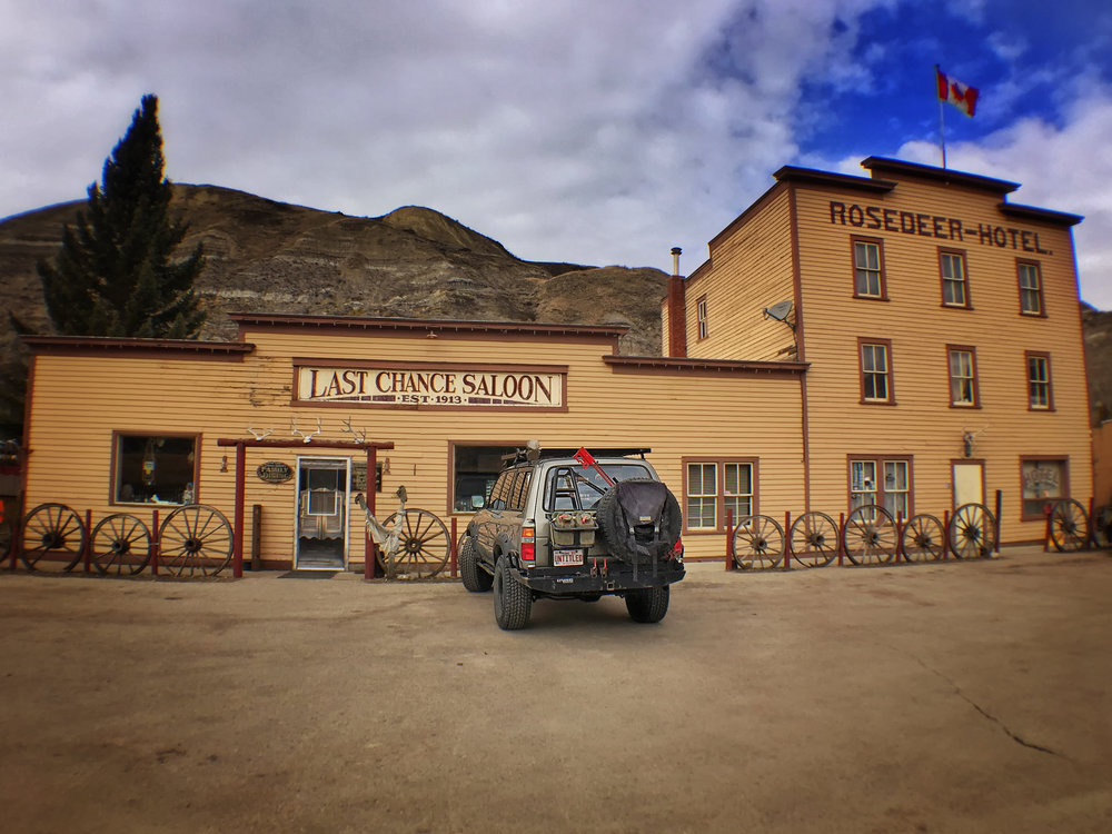 The historic Rosedeer Hotel and Last Chance Saloon in Wayne, AB - Photo Taken with an iPhone