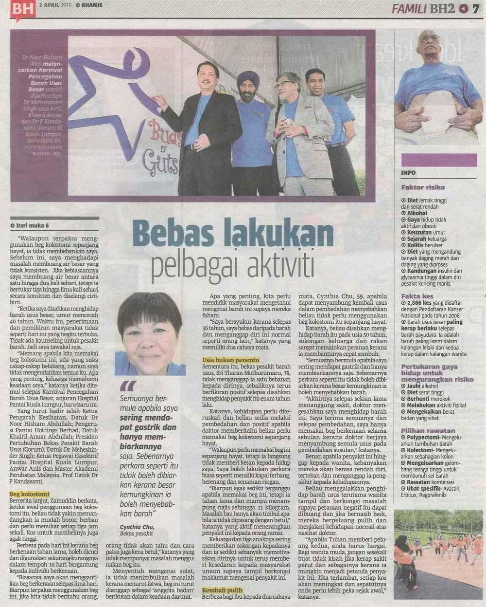 April 2015 - Berita Harian, Malaysia
