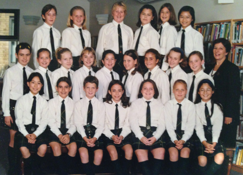 This is my grade 6 class photo – top left second in