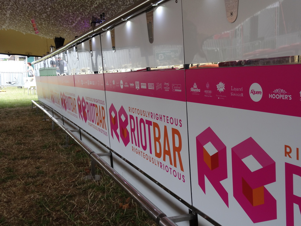 RIOT BAR EVENTS LONDON BRANDING