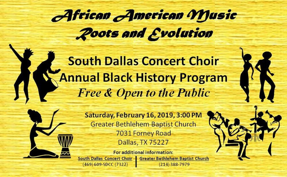 2019 Black History Program African American Music - Roots and Evolution - Flyer 20190206-01.jpg