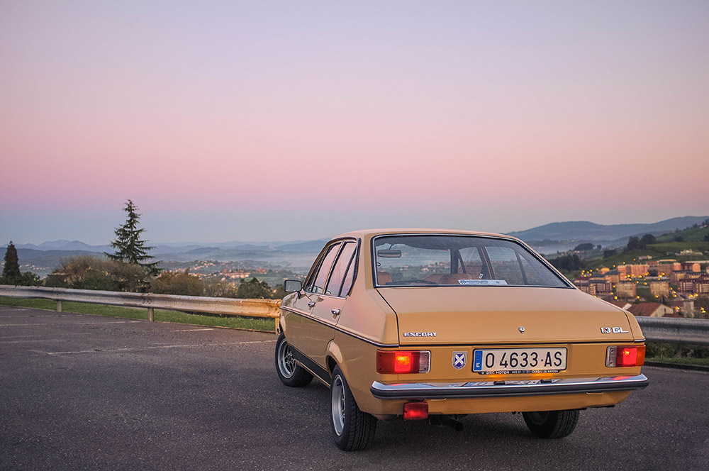 Our latest vintage car imported from Europe, a 1977 Ford Escort Mk 2