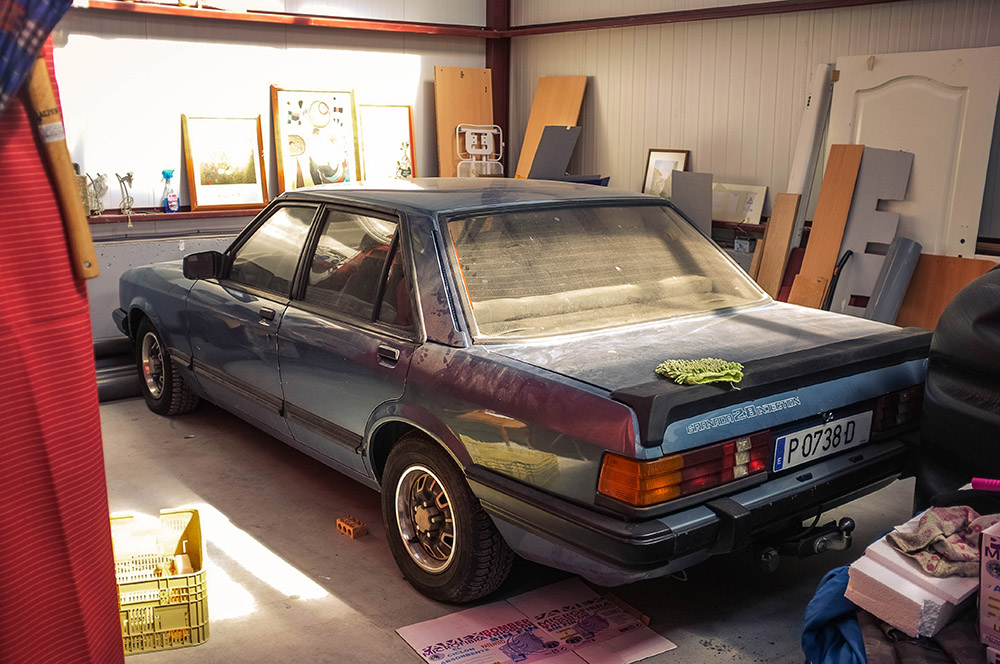 """The 2.8L Ford Granada """"Sport"""" was a staple of the executive performance wars of the 1970's and 1980's. Fast, comfortable and capable of coving serious ground, it was a proper competitor to the e12 BMW 528i and others."""