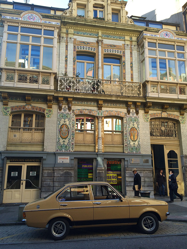 Traditional architecture in downtown Oviedo.