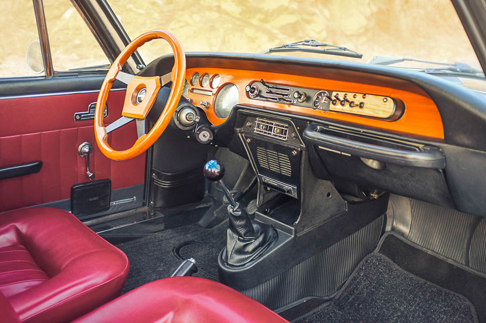 Nearly stock interior has magnificent period charm, Italian style.