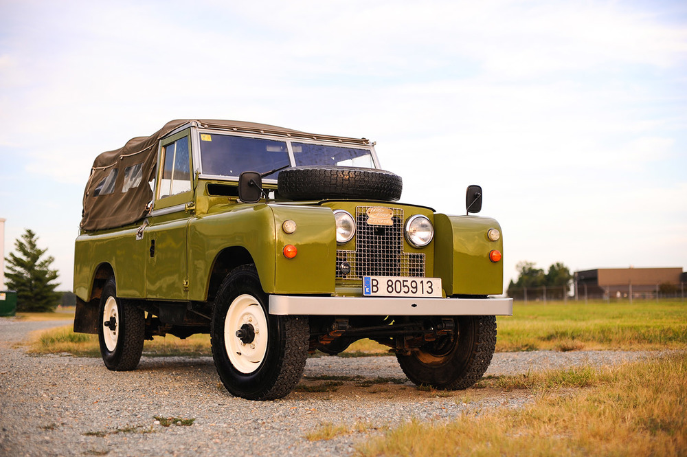 Our latest classic Land Rover Series IIA, imported from Europe