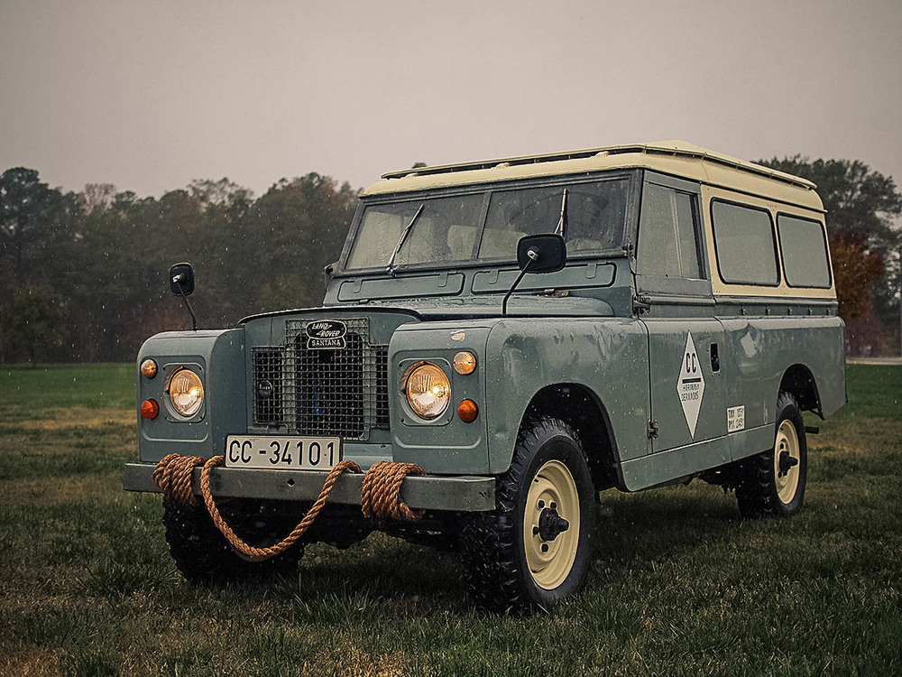 Our latest vintage Land Rover Series IIA, imported from Europe