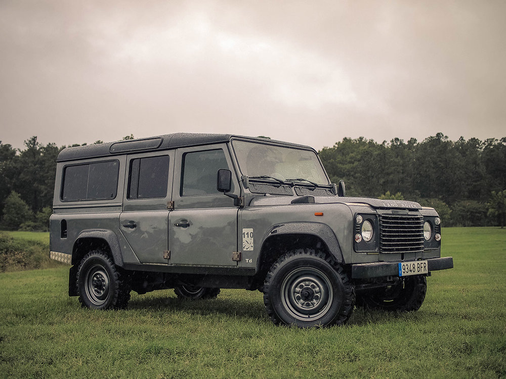 """1991 Land Rover Defender 110, 4-door """"station wagon,"""" recently imported from Europe."""