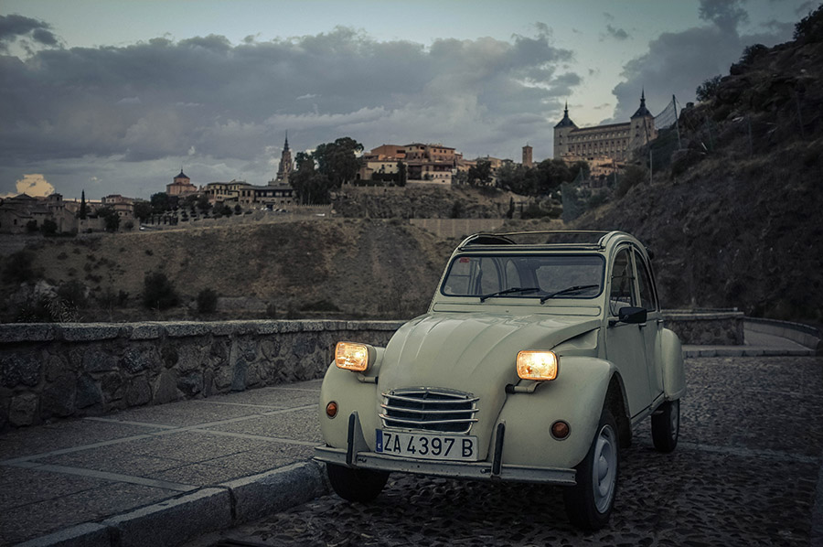 "1976 Citroen 2CV6 Purchased in Zamora, Spain  -  Sold to Sally M. of Reston, VA for $14,000 ""We love the car!  Driving it makes you feel like a celebrity, and whenever friends visit the house, everyone 'oohs' and 'aahs...'""      -  Sally M."