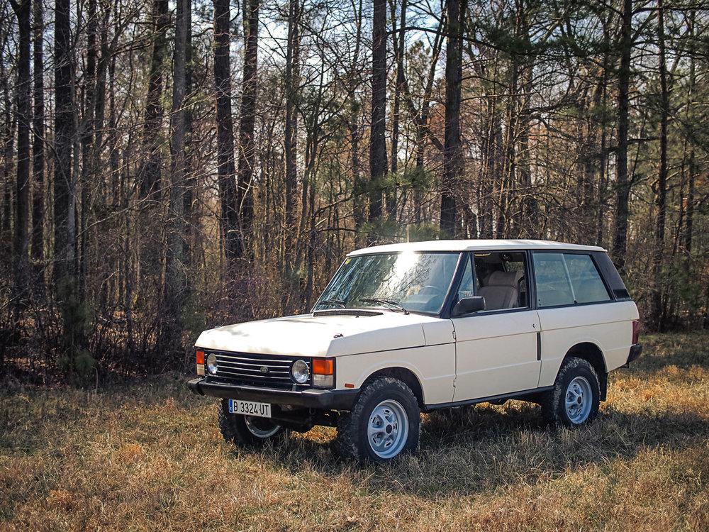 1989 Land Rover Range Rover Classic, 2-door with turbodiesel and 5-speed manual transmission Purchased in Cordoba, Spain - sold to Robert G. of Wolcott, CT for $14,500