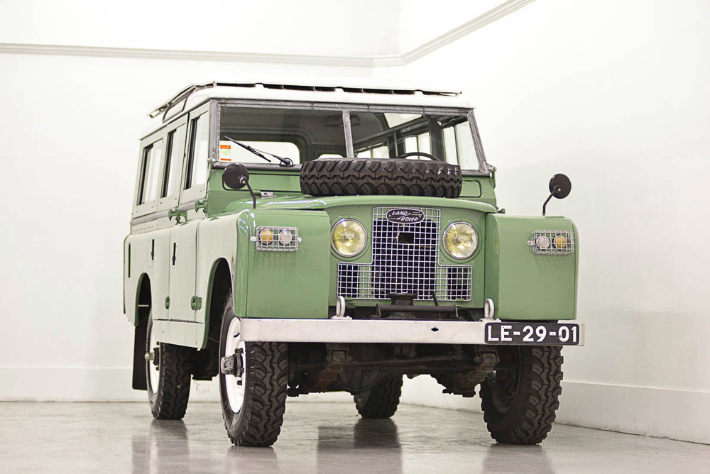 "1965 Land Rover 109 Station Wagon"" with petrol engine and original engine driven capstan winch Purchased in Alvito (São Pedro), Portugal - Sold to James M. of Chatanooga, TN"