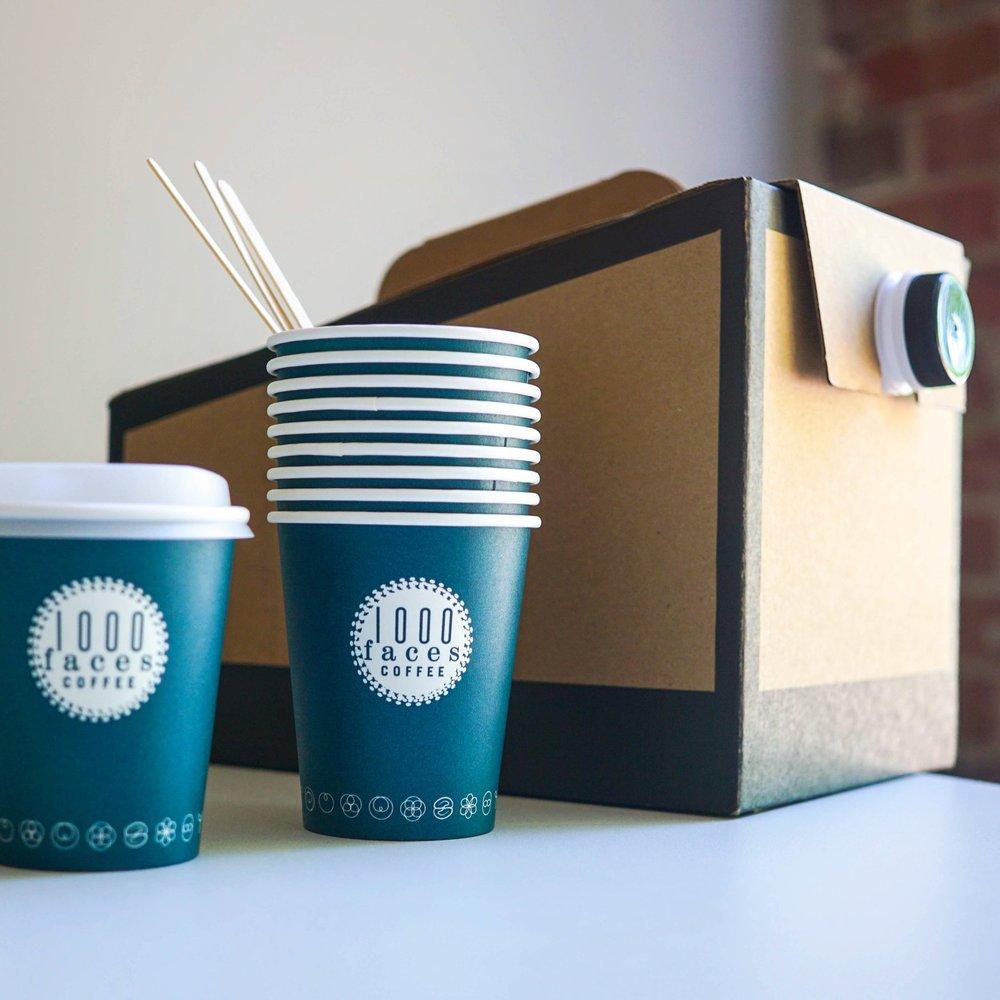 Coffee Box - $28 - Serves: 16 10oz cups, 20 8oz cups