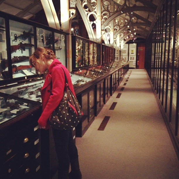 sarahmcintyre: @LucyKnisley in Oxford's Pitt Rivers Museum